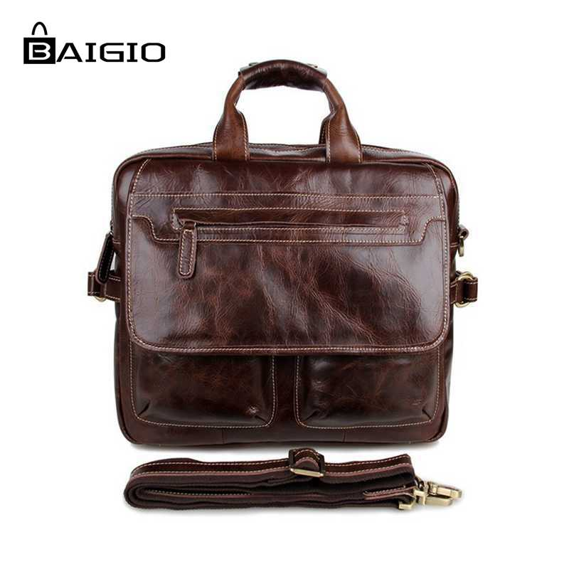 Biagio Men Leather Briefcases Bag 15 Laptop Vintage Brown Brand Designer Crossbody Tote Bag Leather Men Messenger Bags<br><br>Aliexpress