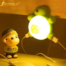0.6W Creative Turtle Night Lights Voice & Light Sensor LED Light Energy Saving Wall Lamp for Baby Children Bedroom Beside Lamps(China)