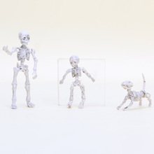3-8cm Pose Skeleton Human Child Dog Youth Cartoon PVC Action Figure Toy