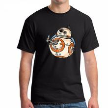 Men Summer T Shirt Star War BB-8 Robot Funny Design Printed 100% Cotton Fashion Short Sleeve Top Tees