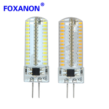 Foxanon Brand G4 Led Light 220V High Quality Silicon Lamp 104Led 3014 SMD Crystal Spotlight Corn Bulb 9W Bulb Lighting 10Pcs/Lot(China)