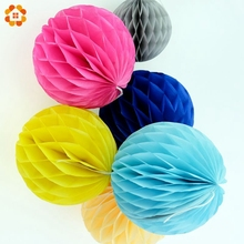 High Quality 10PCS/Lot  6''(15cm) Tissue Paper Lantern Honeycomb Ball For Home Garden Wedding & Kids Birthday Party Decorations