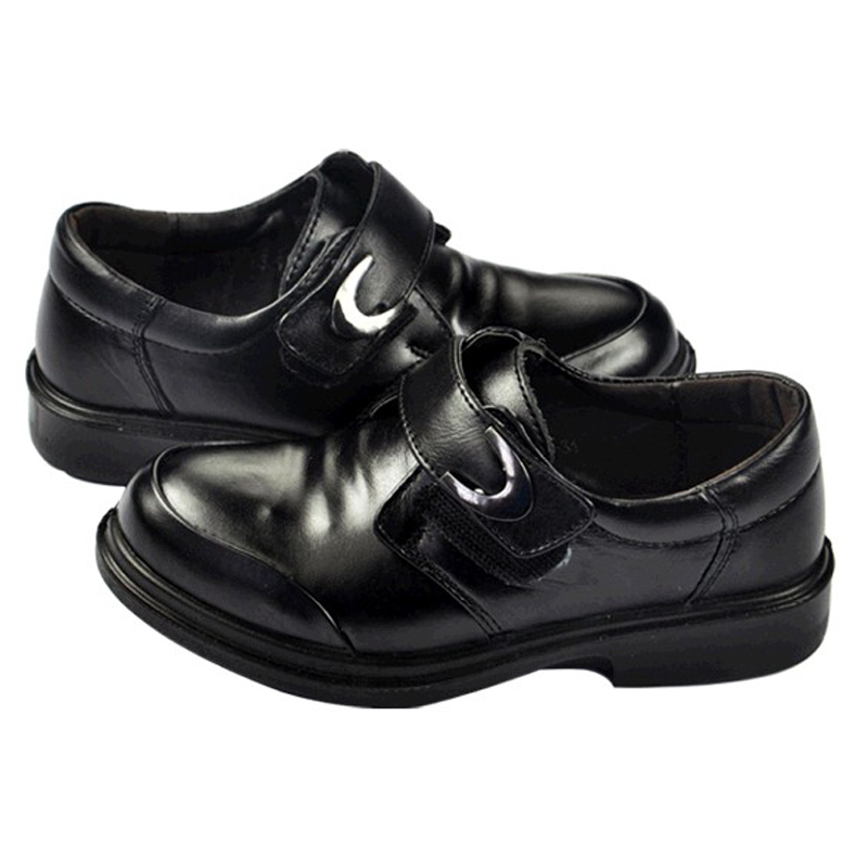 Boys Black Genuine Leather shoes Kids Lederschuhe Rubber sole Oxford Footwear 16 to 23cm Baby Formal shoes<br><br>Aliexpress