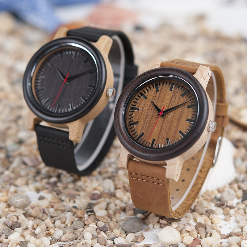 BOBO BIRD High Quantity Mens Wooden Quartz Watch with Leather Strap as Gift Customized Logo relojes hombre 15