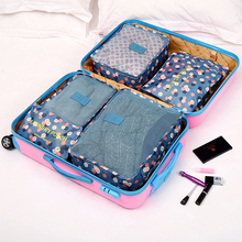 Kawaii Breathable Travel Bag  Set Packing Cubes Luggage Packing Organizers with Shoe Bag Carry on Suitcase