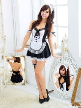 Sexy Apron Maid Outfit Sexy Lingerie Role-playing Game Suit Cafe Waitress Clothes Uniform Temptation + G-string JL(China)