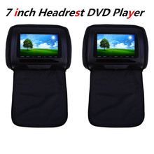 2Pcs/Pair Car Headrest DVD Player LCD Screen XD783 7 Inch Car Audio Universal Car DVD Player Backseat Monitor FM Transmitter(China)