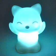 Lovely for Creative Color Changing ABS Fox-Shaped LED Night Lights Lamp Beautiful Home Decorative Wall Nightlights