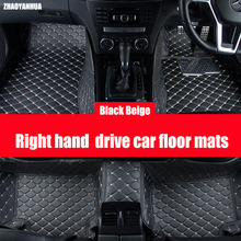 ZHAOYANHUA  Right hand drive car car floor mats for Kia Cerato Forte K3 Rio 6D car-styling carpet rugs high quality anti slip ca