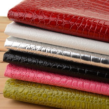 Faux Glitter PU Leather Crocodile Fabric ,Synthetic Leather , PU Artificial Leather Cloth for sewing material, Hide Wholesale