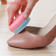 Creative Portable Macaron Style Double Sided Sponge Rub Shoe Brush Household Round Shoes Cleaning Tools Leather Sofa Wax Brush(China)