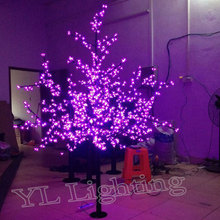 1.8Meters 864LEDS purple holiday led cherry blossom tree light christmas decoration for Europ free shipping
