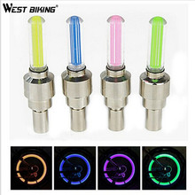 WEST BIKING 5pcs/lot Bicycle Light Bike Mountain Road Bicycle Bike Lights Tyre Tire Valve Caps Wheel Spokes Cycling LED Light(China)