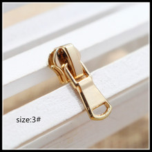 3# Wholesale 10pcs Zipper Sliders Golden Metal Zipper Pulls zipper Head For Handbag/ Backpack/Clothing/Sewing Tailor Tools 073