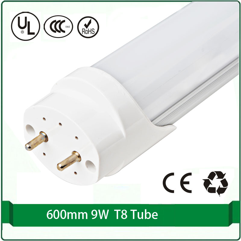 battery input (4pcs / lot ) 12V led tube 24V tube t8 12 volt 24 volt 9W tube led 600mm 4ft light solar power tube light(China)