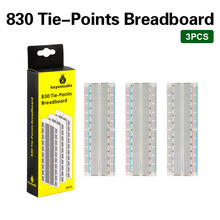 Free shipping! 3PCS HI-Q Breadboard 830 Point Solderless PCB Bread Board MB-102 Gift