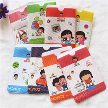 Color Random Fashion Korean Cartoon Cute Cartoon Girl Bus Card Sets Two Card Slots Bank Card Pack Card Sets 40