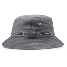 2017 Sunscreen Men Women Bucket Hat Caps Flat Summer Autumn Solid Color Fisherman Panama High Quality Rope Cotton Simple Hats