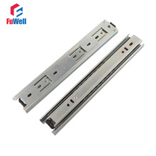 2pcs 10inch Length Drawer Slides Rail 40mm Width Cold-Rolled Steel Fold Telescopic Ball Bearing Cabinet Drawer Sliding Runner(China)