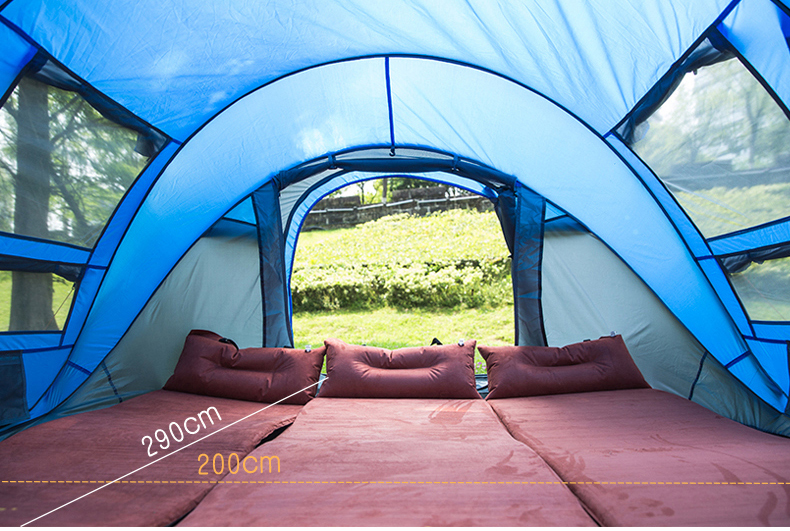 HYL camping pop up tent large 3-4 person windproof (8)