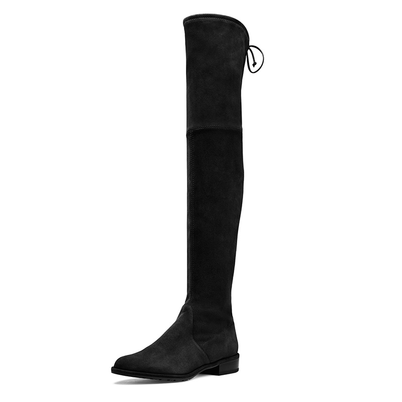 2017 Women Boots Women Thigh High Boots New Comfortable Elastic Cloth Flat With Fashion Autumn Winter Shoes B2744<br><br>Aliexpress