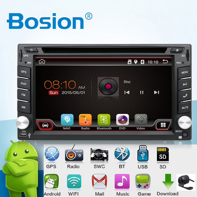 In Dash Android 6.0-CPU Double 2 Din Car radio GPS Navi DVD Player Stereo Headunit Video BT Car PC CD WiFi 3G car parking(China)