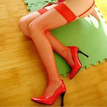 2017 New Arrival Medias Pantis Woman Women Tights Women Sexy Ladies Fishnet Hold Up Stockings With Lace Top - 5 Various Colours(China)