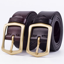 Badinka 2017 New Luxury Brand Black Brown Natural Genuine Leather Belt Men Designer Boss Wide Waist Strap Trouser Belts Riemen(China)