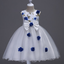 2017 new Summer Children's wedding dresses Stereoscopic flower Jacobs Princess Birthday Party girls dress size 3 6 8 10 12 years