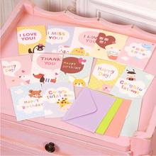 cute greeting cards for kids/children/friends,animal greeting cards for gift/birthday/thanksgiving/congratulation