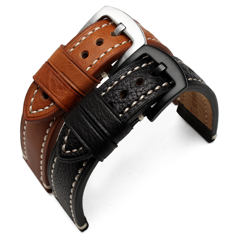 2017 Genuine Leather straps 18mm 20mm 22mm watch accessories men High Quality Brown colors Watchbands<br><br>Aliexpress