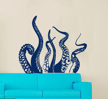 Part Of Octopus Art Designed Wall Stickers Home Bathroom Special Decorative Vinyl Wall Mural Animals Series Wallpaper Wm-460