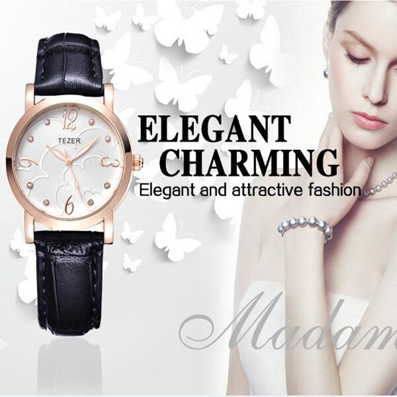 TEZER Business Quartz Watch Women Watches Brand Luxury 2017 Wristwatch Female Clock Wrist Watch Quartz-Watch Montre Femme C79<br><br>Aliexpress