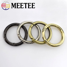 5pcs  32mm D O Ring Openable Keyring Leather Bag Belt Strap Dog Chain Buckle Snap Clasp Clip Trigger Accessories DIY 4color