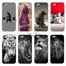 The latest fashion black shell phone shell PC cover under the funny bear the lion For Apple iPhone 5c case