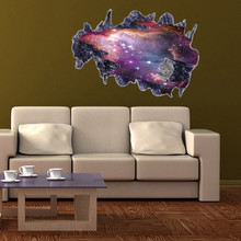 3D Fantastic Meteorite Star Dust Wall Stickers PVC Posters Removable Sticker Poster Art Living Room Decor Decoration For kids(China)