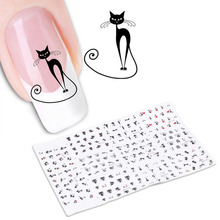 2017 New 1 Sheet 3D Cartoon Cute Cat animal Nail Art Sticker Manicure Decal Tips DIY Nail Stickers Manicure tool(China)