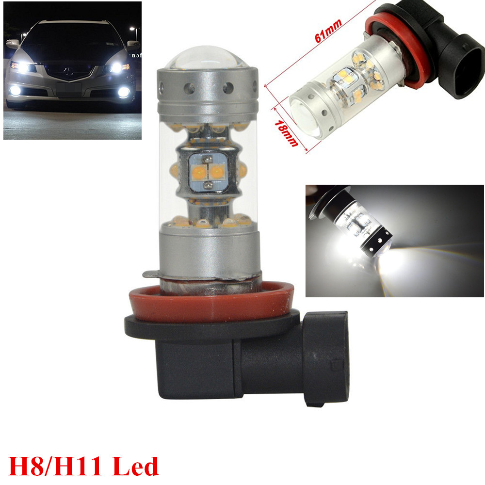 2 Pieces CREE Chips Led H11 For HONDA CIVIC FN2 H11 LED FOG Daytime Light Lamp bulb CANBUS ERROR FREE 80W BRIGHT WHITE<br><br>Aliexpress