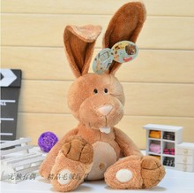 candice guo! new arrival super cute NICI plush toy doll cartoon creative long ear rabbit birthday gift 35cm 1pc
