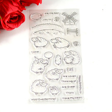 Coolhoo Sheep windwill house farm TPR Silicone clear Transparent Stamp DIY Scrapbooking/Card Making/ Decoration Supplies