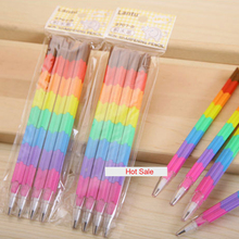 8 PCS Can Be Combinations And Disassembly Bullet Children school Pencil Lead Will Not Break Off Avoid Sharpener Pencil Kids Gift(China)
