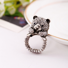 Alloy Fashion Lovely Bear Ring 2016 New Arrival Online Store Brand Costume Jewelry One Women Rings(China)