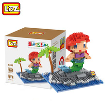 LOZ Single Sale Mini Mermaid Cute Dolls Diamond Bricks Snow Princess Models Building Blocks Toys Children 9499 - LOZs Block Store store