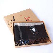 29*23*3.5cm Classical Ink brown paper box Spot scarf towel underwear Tshirt A4 Book exquisite packaging box gift boxes100pcs/lot(China)