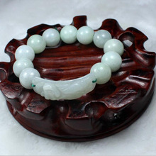 yu xin yuan nature Emerald round pearl of the trendy jade bracelet for party(China)