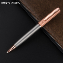 High quality MONTE MOUNT Metallic and rose gold financial Ballpoint Pen Special pen Multi-color with gift school office supplies(China)