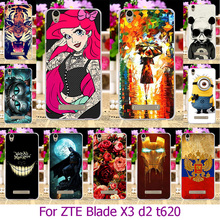 Soft TPU Phone Case For ZTE Blade X3 D2 T620/ZTE Blade A452 Q519T Blade D2 Blade T620 5.0 inch Painted Case Cover housing