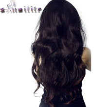 S-noilite 7PCS/SET REAL THICK FULL HEAD Clip in Hair Extensions 16 Clips ins Natural Hairpieces Synthetic High Temperature Fiber