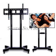"Mobile TV Carts Floor TV Stand Mount Movable TV Trolley Bracket With Wheels and DVD Shelf Fit for 32""-70"" TV Max Support 50kg(China)"