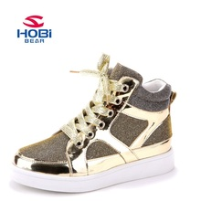 HOBIBEAR Casual Kids Shoes Winter Mid-Cut Flat Girls & Boys Shoes 2016 Fashion Sports Footwear Children Sneakers GS2087
